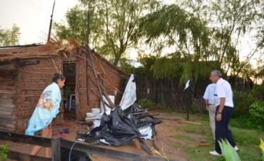 La cola de un tornado afectó en Goya a familias de Puerto Boca