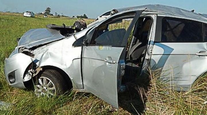 Ruta 14: ciudadano paraguayo murió tras el despiste y vuelco de un automóvil