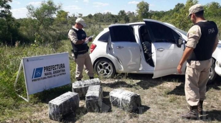 En un operativo, Prefectura secuestró 600 kilos de marihuana de un automóvil
