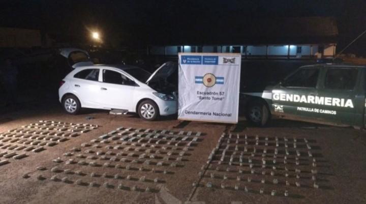 Secuestraron más de 120 kilos de marihuana transportados en vehículos