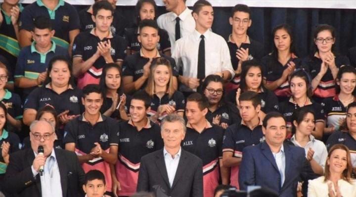 Viene Macri para el inicio de clases y será el primer presidente en visitar Bella Vista