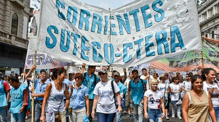 Paro docente nacional: se habla de un acatamiento del 50% en Corrientes
