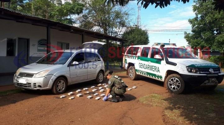 Incautaron más de 20 kilos de droga ocultos en un vehículo