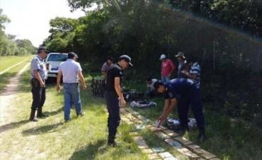 Loreto: encontraron más de 480 kilos de marihuana en un camino vecinal