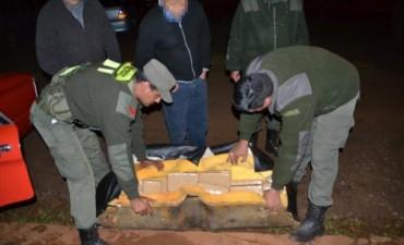 En un operativo de Gendarmería secuestran más de 170 kilos de marihuana