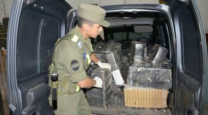 Detuvieron a un hombre con 605 kilos de droga