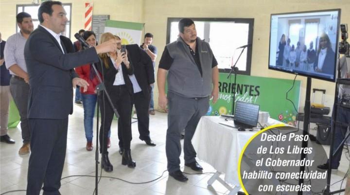 Escuelas, conectividad y respaldo a productores en agenda de Valdés