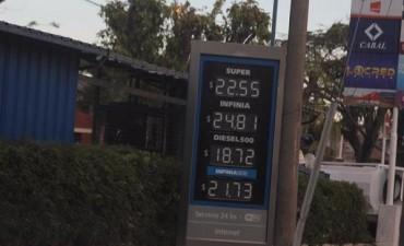 En Corrientes los combustibles subieron sus precios entre $1,06 y $1,80 por litro