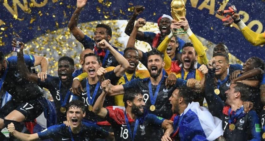 Francia superó a Croacia y así alzó su segunda Copa del Mundo, tras 20 años