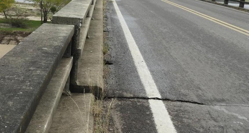 Esperan arreglo del puente sobre el río Corriente: tiene fisuras de hasta 30 cm