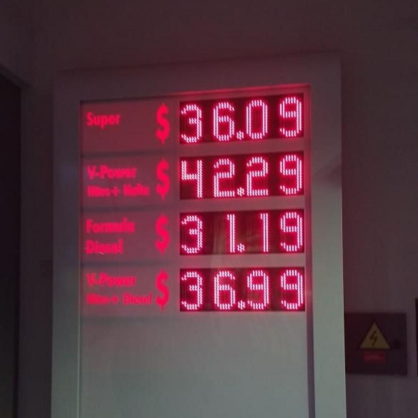 La nafta imparable, hoy con nuevos precios en las estaciones de servicio