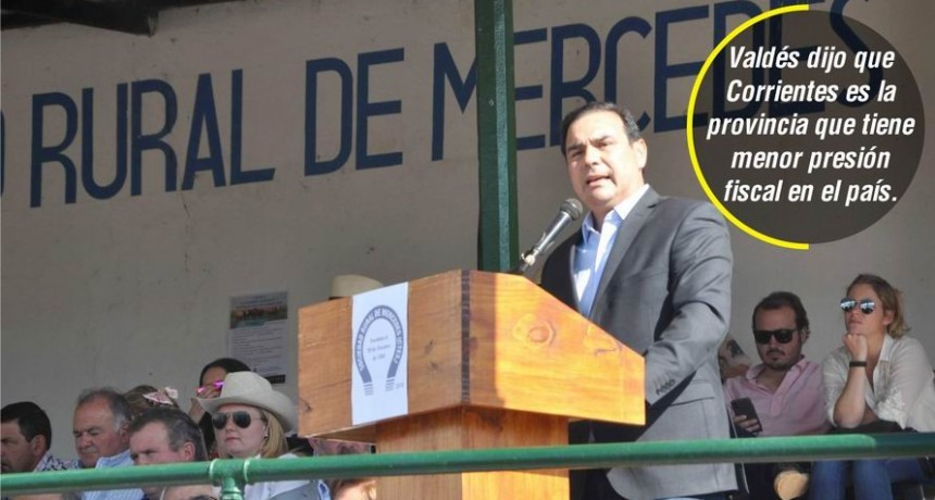 Valdés respaldó al campo y pidió a todos los sectores afrontar la crisis