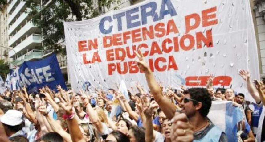 CTERA convocó a un paro nacional