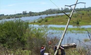 Tras reiteradas caídas de postes, mudarán el tendido para evitar cortes de luz en Alvear