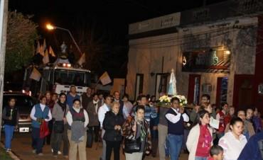 Celebran la fiesta de la Asunción de María en la antigua parroquia jesuítica de La Cruz