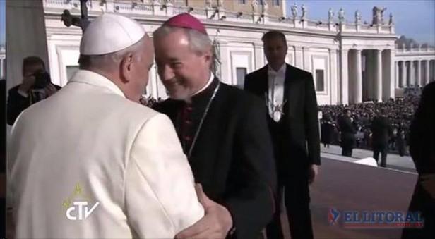 Cálido saludo del papa Francisco a monseñor Andrés Stanovnik en Roma