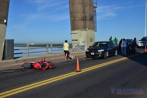 Jornada complicada en el puente Belgrano con tres choques en pocas horas