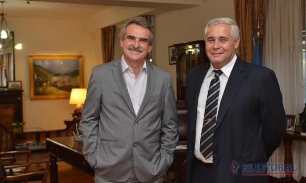Ríos se reunió con Rossi y se avanzaría en mejoras edilicias para el ex RI9