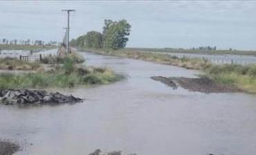 Esperan mejora del clima para avanzar con las obras de canalización y hay más de 500 evacuados