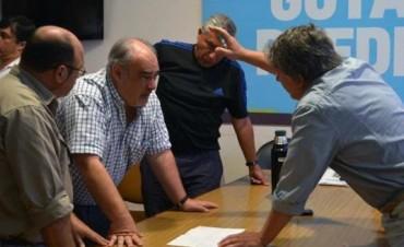 Colombi visitó Goya y Santa Lucía y tomó nota de las obras para mitigar las inundaciones