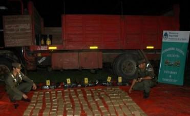 Gendarmería incautó 269 kilos de marihuana en el acceso a Paso de la Patria