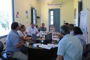 Empresas de Saneamiento del Litoral analizan el comportamiento del río