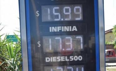 Combustibles: aplicaron suba de precios de entre 60 centavos y un peso por litro