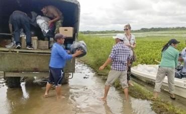 La crecida dejó aisladas a 22.500 personas en Goya y amenaza al ganado