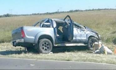 Despiste y vuelco sobre la ruta le costó la vida a un hombre de 40 años