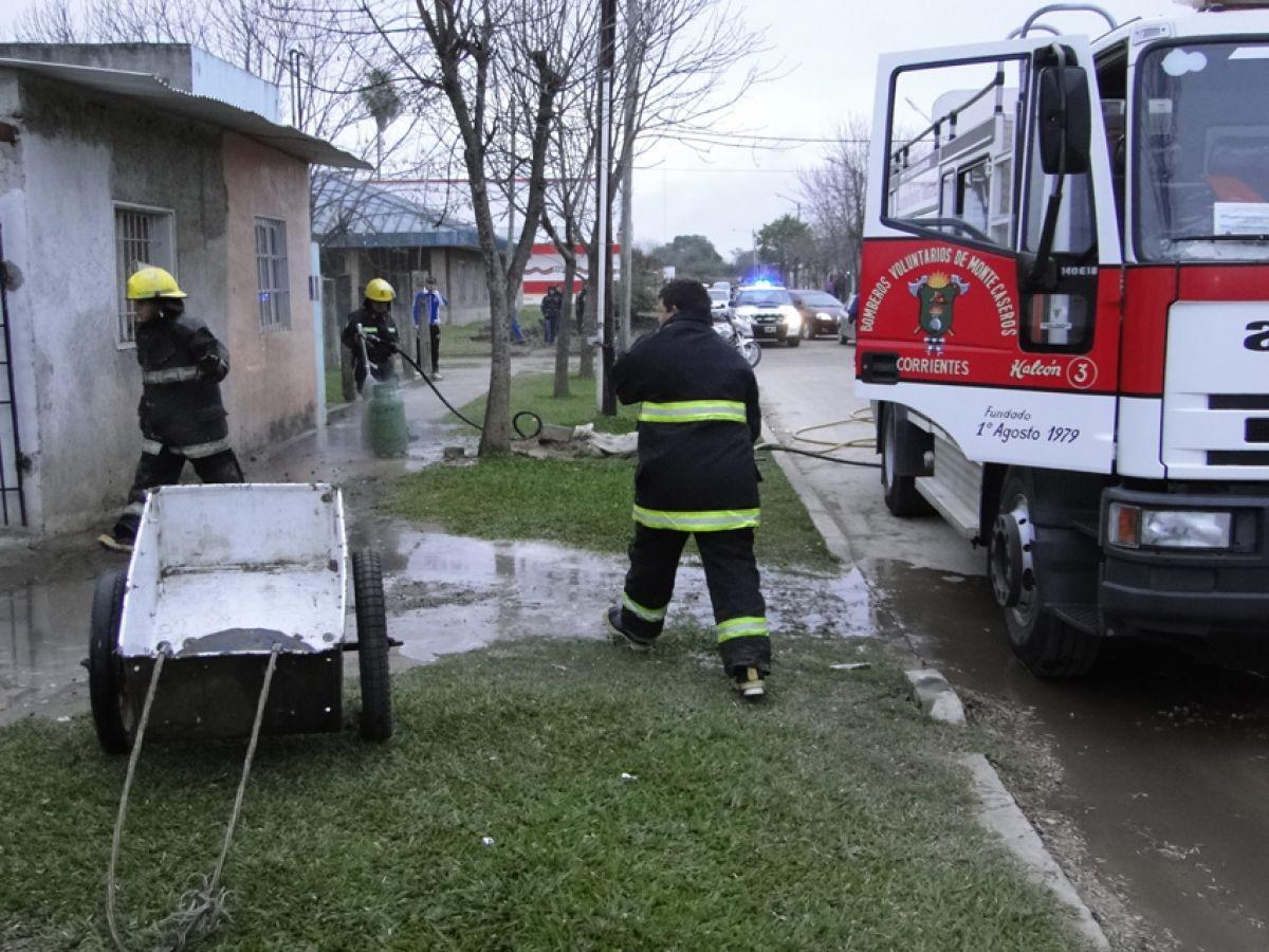 Monte Caseros: hallaron calcinado un cuerpo en incendio de una vivienda.