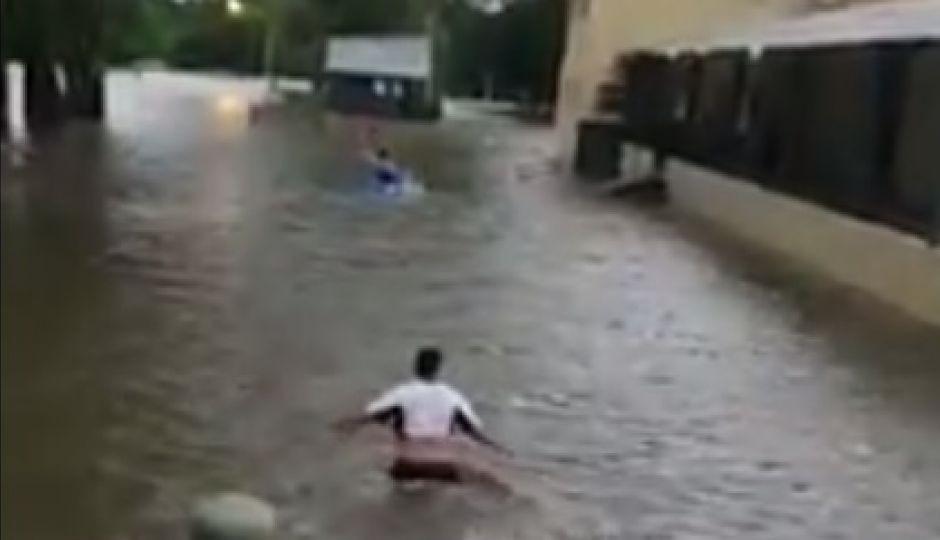 Nuevo temporal  agrava la situación en la costa del Uruguay