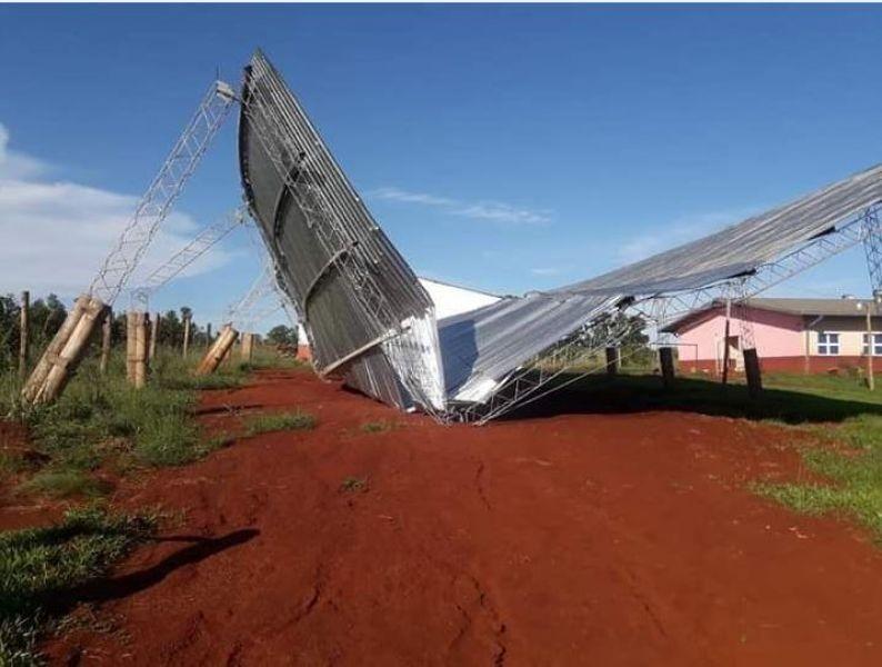 Temporal en Virasoro destruyó el tinglado de una escuela agrícola