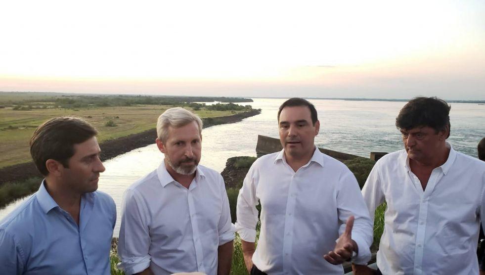 Otra visita del ministro Frigerio, esta vez hizo una recorrida por Yacyretá