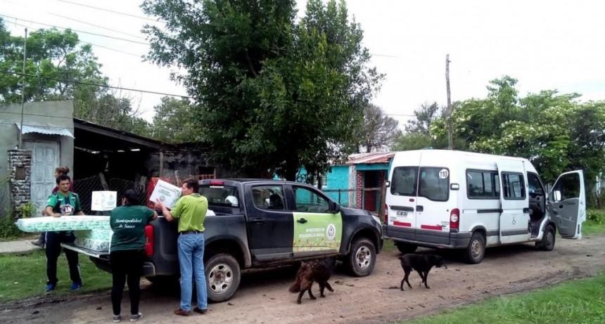 Desarrollo Social mantiene los relevamientos y refuerza la asistencia por las inundaciones