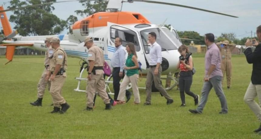 La Ministra de Seguridad estuvo en Corrientes tras el secuestro de marihuana