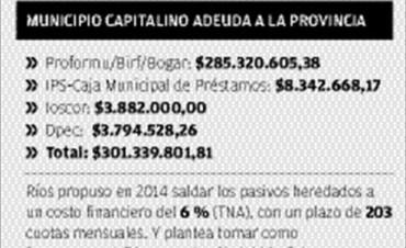 """Ríos: """"Hay una decisión política de dejarnos fuera de la refinanciación de deudas"""""""