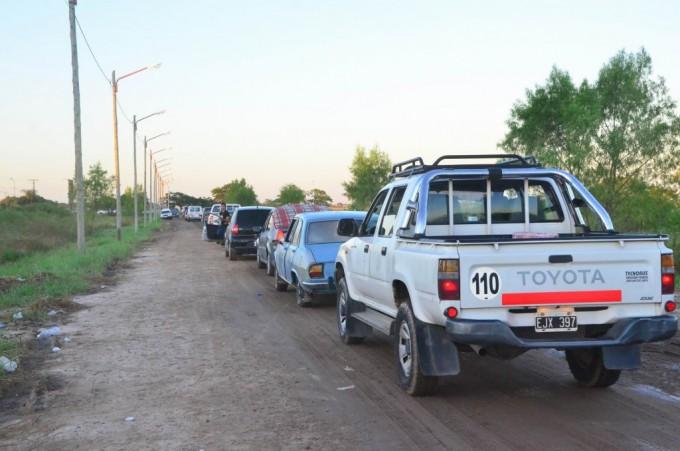 Caos vehicular a la salida del Corsódromo