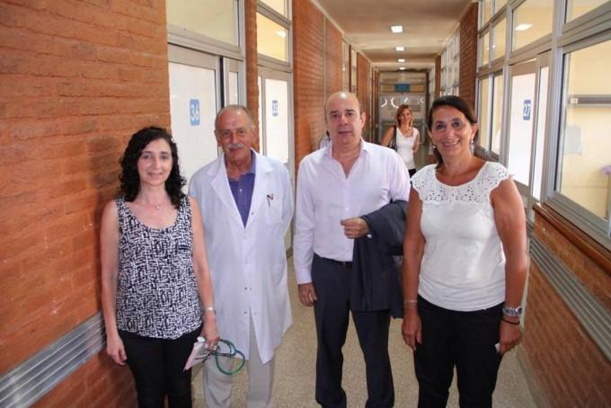 En el día de la lucha contra el cáncer infantil, Canteros visitó el Pediátrico