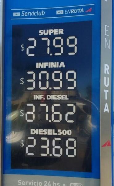 YPF aumentó casi 5% los precios de los combustibles: algunas estaciones locales ya remarcaron.