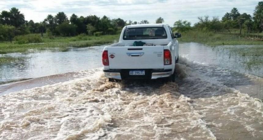 Unas 50 rutas provinciales continúan intransitables por la lluvia