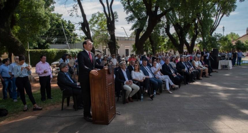 Valdés anunció fuerte inversión en Educación y Seguridad para Alvear