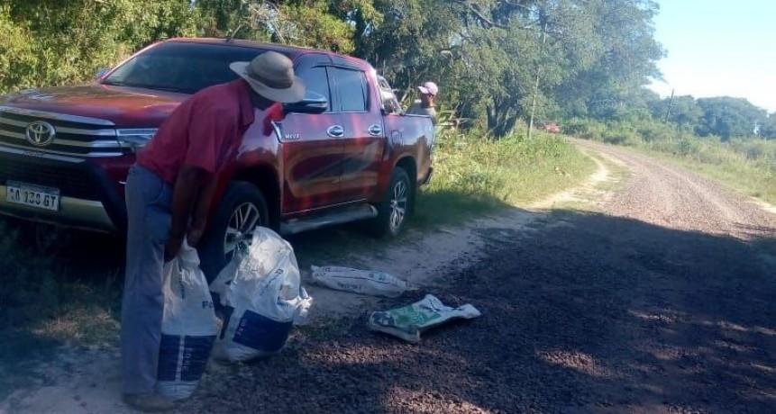 Detuvieron a un hombre que robaba ripio en ruta provincial cerca de San Roque