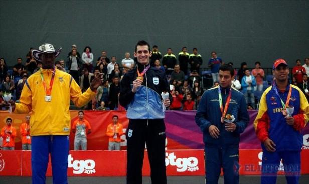 Objetivo cumplido: Sebastián Crismanich obtuvo la medalla de oro en Santiago de Chile