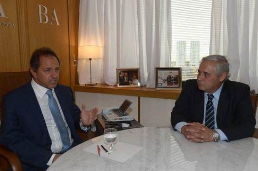 Fabián Ríos y Daniel Scioli, juntos por inversiones