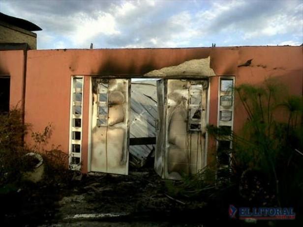 Se incendió parte de la casa de la intendenta e investigan el origen