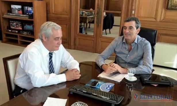 Junto a Randazzo, Ríos gestionó obras y mejoras para el transporte urbano