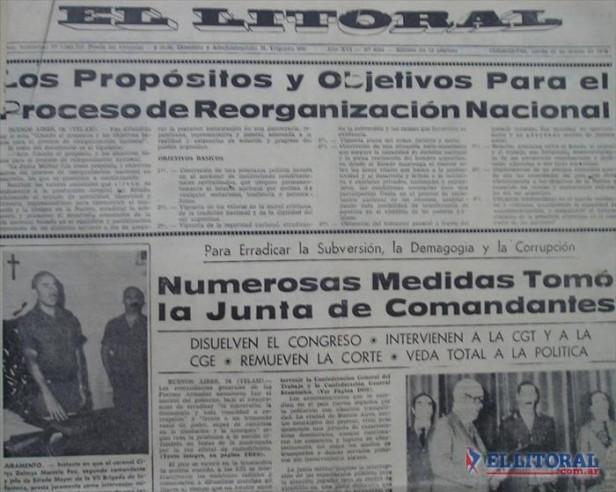En la mañana del golpe, las Fuerzas Armadas designaron a su interventor y funcionarios