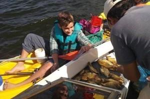 Capturaron más de 2 mil palometas en la laguna Totora de San Cosme