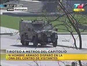 Cierran el Capitolio y la Casa Blanca por tiroteo