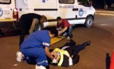 Automovilista chocó a inspector para evitar test de alcoholemia